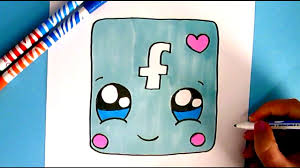 facebook icon how to draw facebook icon cute easy drawing step by step youtube
