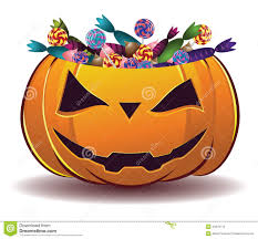 pumpkin with candy stock photography image 34872712