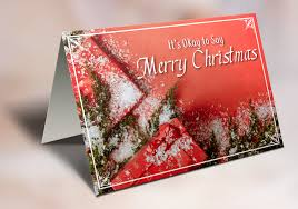 it s okay to say merry cards traditional it s okay to
