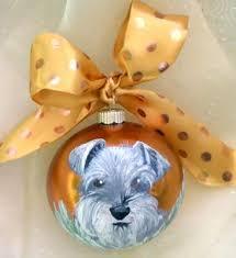 painted schnauzer ornament