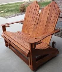Gliding Adirondack Chairs Teak Wood Adirondack Tete A Tete Outdoor U0026 Patio Log Furniture