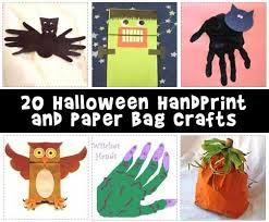 Crafts For Kids For Halloween - easy halloween handprint and paper bag crafts woo jr kids