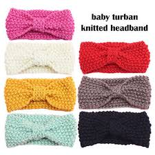 crochet band kids girl baby toddler crochet bow headband hair band