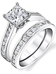 Wedding And Engagement Rings by Amazon Com 1 25 Carat Round Brilliant Cubic Zirconia Sterling