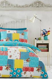 Kitsch Bedroom Furniture Vintage Bright Kitsch Patchwork Bedding Set Multi Bhs