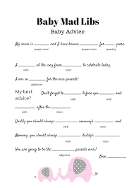 baby showergames free baby mad libs baby advice baby shower ideas themes