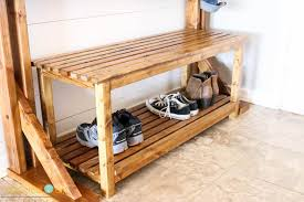 Pottery Barn Shoe Bench Pottery Barn Inspired Rustic Bench Addicted 2 Diy