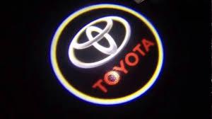 toyota rav4 logo how to install toyota door welcome logo lights youtube