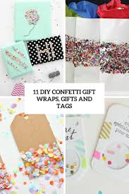 gift wraps 11 diy confetti gift wraps bags and tags shelterness