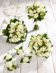 bridesmaid flowers white freesia wedding flowers collection 2 m s