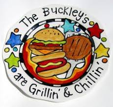 grill platter personalized custom personalized big bbq platter great for cookouts or gifts