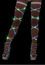 led light up pasties green and blue light up leg wraps led leg wraps from raveready