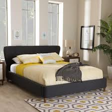 Upholstered King Size Bed Germaine Gray Queen Upholstered Bed By Home Depot Havenly