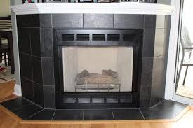 black tile gas fireplace new jersey custom tile