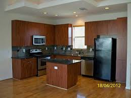 Light Cherry Kitchen Cabinets Kitchen Awesome L Shape Kitchen Decoration Ideas Using Light