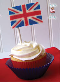 England Flag Jpg Bird On A Cake British Flag Union Jack Cupcake Toppers