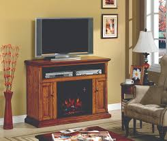47 25 cannes antique oak entertainment center electric fireplace
