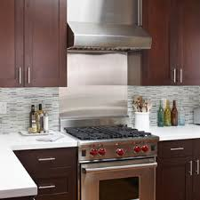 white kitchen cabinets with stainless steel backsplash stainless steel tile backsplash houzz