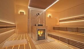 indesignclub sauna interior in luxury home spa