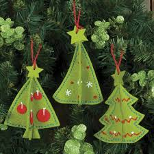 tree ornament kits sequin ornaments vintage