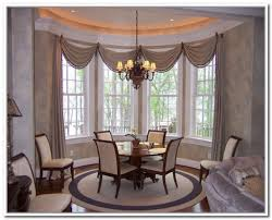 dining room top window treatments for bay windows in dining room