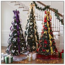 decorated pull up tree