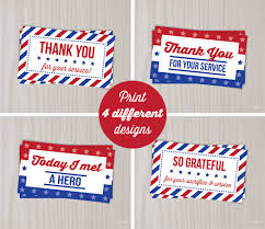 instant download veterans day thank you cards military thank