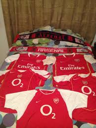 Arsenal Duvet Covers Found My Collection Of Arsenal Shirts And Scarves While Moving