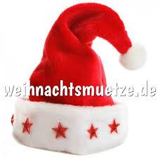 kuschelige luxus weihnachtsmütze mit 5 led sternen