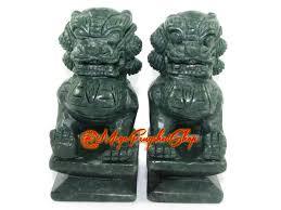 green foo dogs of feng shui foo dogs green