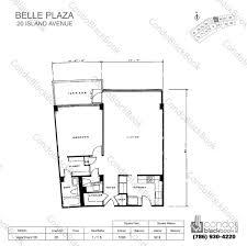 belle plaza unit 1105 condo for rent in venetian islands miami floor plan for belle plaza venetian islands miami beach model apartment 05 line 05