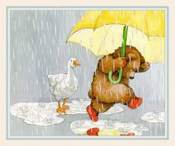 song of wind and rain animal bear bird duck painting puddles