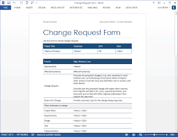 Microsoft Excel Form Templates Change Request Form Templates Ms Excel Word Software Testing