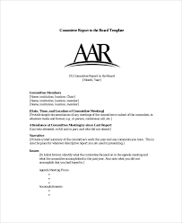 committee report template sle board report 5 documents in pdf