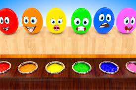 funny colors colors for kids to learn with funny eggs in color water kids