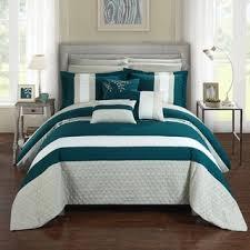 Teal Bed Set Nanshing Juliana 7 Piece Comforter Set Free Shipping Today
