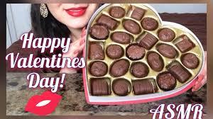 valentines day chocolate asmr happy valentines day chocolates whispering show