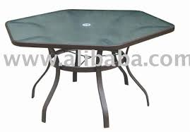 Glass Table Patio Set Catchy Hexagon Outdoor Table Patio Furniture Dockside In