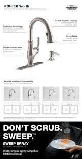 kohler worth single handle pull down sprayer kitchen faucet in