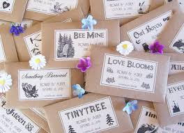 seed packets wedding favors wedding flowers flower seeds as wedding favors