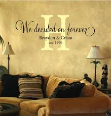 we decided on forever personalized vinyl lettering wall art decal