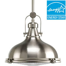 led mini pendant lights progress lighting fresnel lens collection 1 light brushed nickel
