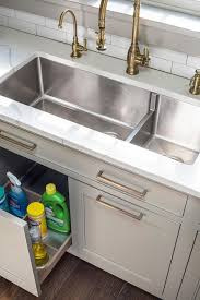 kitchen sink cabinet tray sink pull out tray transitional kitchen