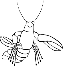 crawfish coloring page printable lobster coloring pages kids