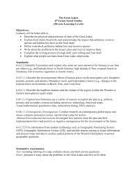 Persuasive Essay Examples For 6th Grade The Great Lakes 6th Grade Social Studies Diverse Learning Levels