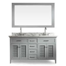 Bathroom Vanities At Lowes Shop Ariel Kensington Grey Undermount Double Sink Bathroom Vanity