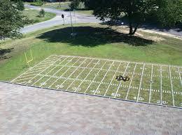 Football Field In Backyard Notre Dame Fans Turn Front Lawn Into Stadium Replica Ncaa