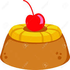 pineapple upsidedown cake for dessert lovers royalty free