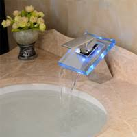 Led Bathroom Faucet by Wholesale Led Waterfall Faucet Buy Cheap Led Waterfall Faucet