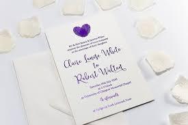 wedding invitations glasgow embossed wedding invitation finger print heart bossa